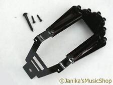 Black guitar tailpiece tail piece + studs fits Maccaferri jazz acoustic 6 string