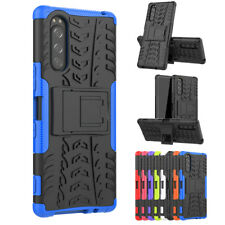 For Sony Xperia 5 Phone Case Dual Layer Rugged Armor Shockproof Kickstand Cover