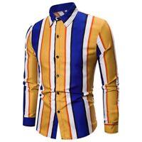 Long Sleeve Casual Floral Shirt Luxury Slim Fit New T Shirt Dress Shirts Mens