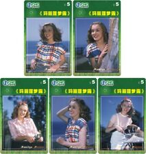 Marilyn Monroe 5 telefoonkaarten/télécartes  (MM017)