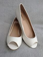 "Ladies Corky Denim Wedge PU Size 3. White PU.1.5"" High Heel.BHS."