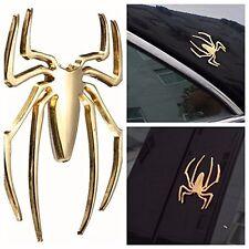 3D Universal Car Truck Auto Spider Gold Badge Sticker Logo Emblem Marker Decal