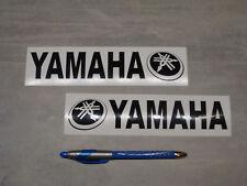 2x stickers pour Yamaha Noir 19cm moto bikes decals aufkleber pegatinas YAM1-070