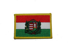 Hungary With Crest Country Iron On Patch