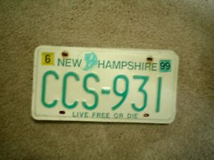 NEW HAMPSHIRE LIVE FREE   LICENSE PLATE   BUY ALL STATES HERE FREE SHIPPING