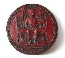 Edward I Great Royal Seal Obverse Red - Medieval Reproduction Collectable Gift