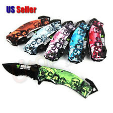 Walking Dead Zombie Knife with Artwork - 1 pc Random Color - US Seller