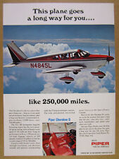 1969 Piper Cherokee D Airplane color photo vintage print Ad