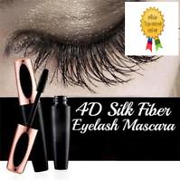 4D Seda Fibra Pestañas Máscara Extensión Maquillaje Impermeable Negro Nuevo