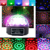 RGB Color Mixing Stage Light Home Disco Party DMX512 LED Crystal Ball Lighting