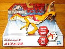 "JURASSIC WORLD ALLOSAURUS 8"" DINOSAUR FIGURE BASHERS AND BITERS JURASSIC PARK 4"