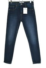 Topshop LEIGH Super Skinny Mid Rise Dark Blue Stretch Jegging Jeans 10 W28 L30