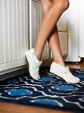 NEW Free People Pine Lodge Handknit Slippers Size Small in Ivory