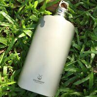 Pure Titanium Water Wine Coffee Tea Bottles Flasks Portable Outdoor Camping EDC