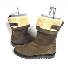 New AQUATALIA $675 Women's Paloma Waterproof Taupe Suede Bootie Boots Size 6