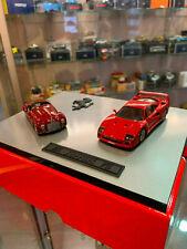 Coffret AMR 40 ans Ferrari 125C 1947 F40 1987 rouge miniature 1:43 COLLECTOR