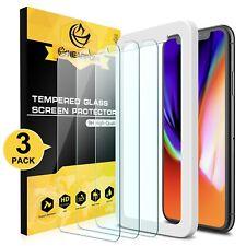 CASE friendly chiaramente senza bolle SCRATCH RESIST iPhone Apple XS GLASS 3 X Pack