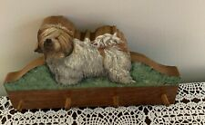 Brand New Wood Lark Old English Sheepdog Wooden Leash Holder Dog Rescue Charity
