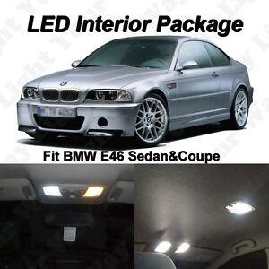 14x Xenon White SMD LED Interior Lights Package For BMW E46 323i 325i 330i M3