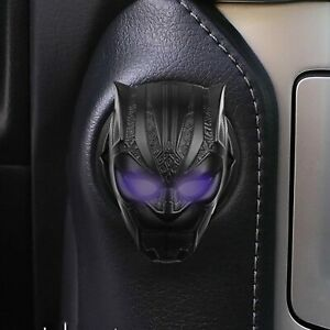 Black Panther Car Engine Ignition One-Key Start Stop Button Cover Anti-Scratch