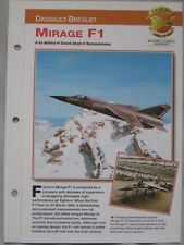 Aircraft of the World Card 42 , Group 5 - Dassault-Breguet Mirage F1
