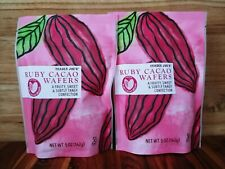 NEW ITEM 2-Pack Trader Joe's Ruby Cacao Wafers Bag Pink Chocolate Chips Fun Rare