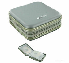 2 x gris DataSafe CD DVD Disque Stockage sacoche titulaire pour CD DVD NEUF