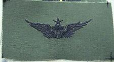 US ARMY OD GREEN SEW ON SENIOR AVIATOR BADGE CAMO BDU SHIRT FLIGHT SUIT