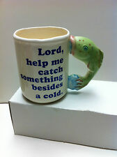 """Fisherman""""s Coffee Mug Lord, Help me catch something other than a cold!"""