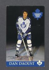 Dan Daoust signed Toronto Maple Leafs hockey postcard