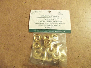C.S. Osborne Plain Rim Grommets Size #1 (Pack Of 24)