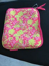 Lilly Pulitzer Neoprene Zipper Case For IPad,Kindle or Tablet Flamingo Pink