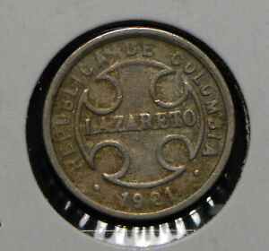 Colombia 1921 2 Centavos  290300 combine shipping