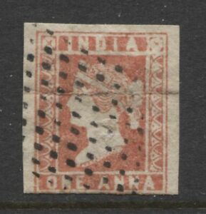 INDIA - 1854 DIE II 1a DULL RED USED SG.14 (REF.A29)