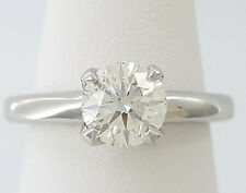 0.92 ct Platinum HOF Hearts on Fire Round Diamond Solitaire Engagement Ring GIA