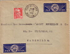 GANDON - FORT DE FRANCE - MARTINIQUE - 7-1-50 - LETTRE AVION POUR MARSEILLE