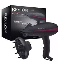 Womens Revlon Tempest Professional Compact Power Hairdryer + Diffuser 2000W