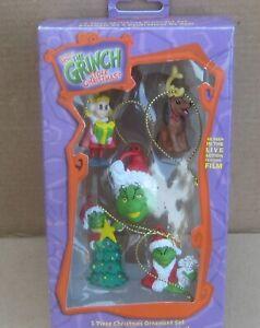 How the Grinch Stole Christmas 5 piece ornament set Kurt Adler