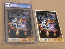 Nova 8 CGC 9.2 White Pages (Classic Thanos Cover!!) + extra