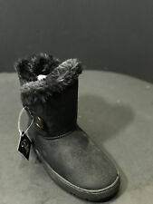 Holly Winter Girls Black Boots Size US 12 New