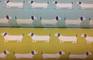 *NEW* Fryetts HOUND DOG Dachshund Cotton Print Fabric.Upholstery/Curtains/Crafts