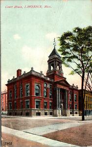 Vtg 1910s Court House Lawrence Massachusetts MA Postcard