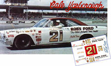 CD_1664 #21 Cale Yarborough  1967 Ford Fairlane    1:24 Scale Decals