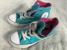 CONVERSE Chuck Taylor Blue Youth HIGH TOP ALL STAR SNEAKERS SHOES Size 12 SC8