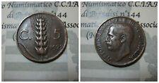 Vittorio Emanuele III 5 Centesimi Spiga 1922