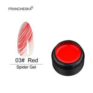 6 Colors 8ml Spider Gel Drawing Glue Soak Off UV DIY Manicure Nail Art Set Hot