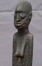 Yoruba Female African Figure with old trade beads - Nigeria