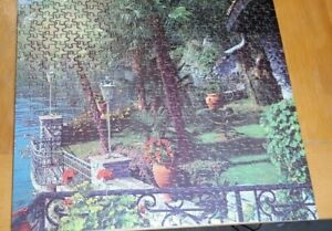 Whitman 500 piece Puzzle PRIVATE PATIO Made in USA Deluxe Guild