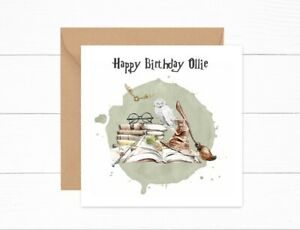 Personalised Birthday Card Girls Boys Harry Potter Themed Card Son Daughter