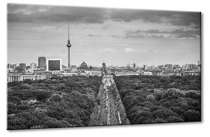 Premium Glasbild AG5705000715 DEKO 50 x 70 cm BERLIN FERNSEHTURM GREY